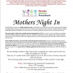 Mothers Night In Flyer